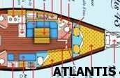 'ATLANTIS 43' yacht plan